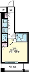 パークウェル京橋[4階]の間取り