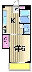 メゾン野澤[102号室]の間取り