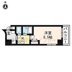 プレサンス京都烏丸御池301[3階]の間取り