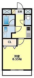 名鉄豊田線 黒笹駅 徒歩29分の賃貸アパート 1階1Kの間取り