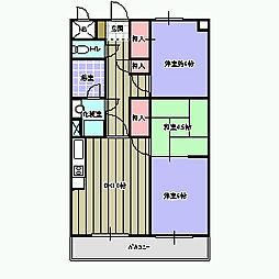 愛媛県新居浜市徳常町の賃貸マンションの間取り