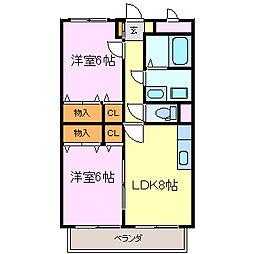 虹の丘BRAIN[1階]の間取り