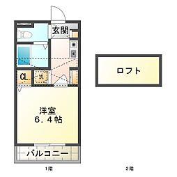 KCCハウス[4階]の間取り