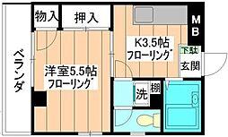 東京都練馬区北町8丁目の賃貸マンションの間取り