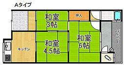 高松荘 平屋[1階]の間取り