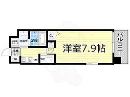 Osaka Metro千日前線 桜川駅 徒歩10分の賃貸マンション 4階1Kの間取り