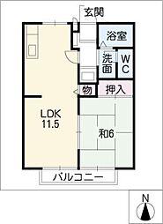 ハウスプラザひかる[2階]の間取り