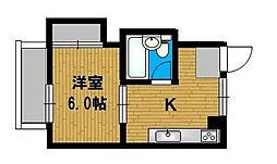 ドウェルミサワ[3-B号室]の間取り