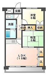 コンフォート21[3階]の間取り