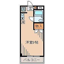 フォンテーヌ大倉山[205号室]の間取り
