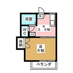 コーポアベ[2階]の間取り