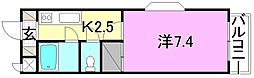 カーサグラン桑原[210 号室号室]の間取り