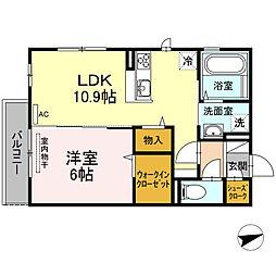 (仮)D-room 住吉 II[305号室]の間取り
