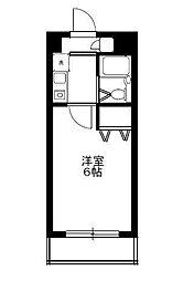 シティクレスト津田沼[206号室]の間取り