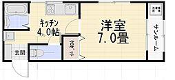 エトワール浅ノ川[203号室号室]の間取り