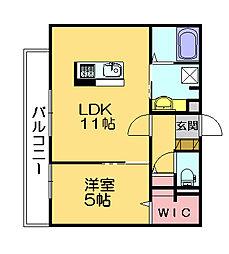プランドール柚須駅南[3階]の間取り
