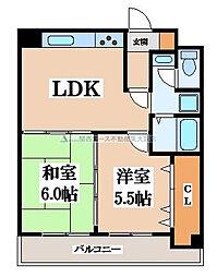 高井田青山ビル[6階]の間取り