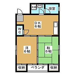 モアイマンション[2階]の間取り