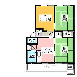 光マンション[4階]の間取り