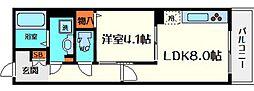 大阪府守口市松月町の賃貸アパートの間取り