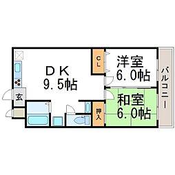 浜マンション[2階]の間取り