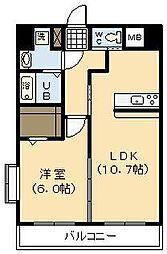 (新築)神宮東1丁目マンション[705号室]の間取り