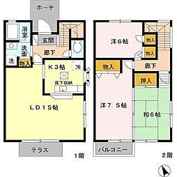 パルティーダ A棟[1階]の間取り