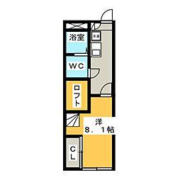 レオパレスのりくらII[1階]の間取り