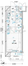 JR大阪環状線 福島駅 徒歩7分の賃貸マンション 3階1Kの間取り