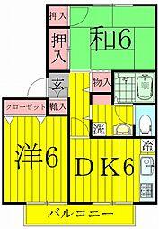 ティアラK−I[1階]の間取り