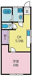 コーポリィ[2階]の間取り