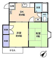 コアハイム八千代[1階]の間取り