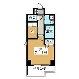 アスヴェル京都御所前[3階]の間取り