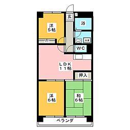 ウイングスI[2階]の間取り