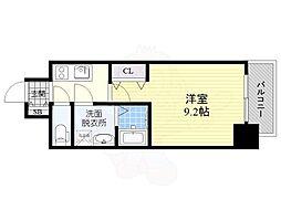 名古屋市営東山線 新栄町駅 徒歩8分の賃貸マンション 4階1Kの間取り