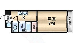 Five Two 6階1Kの間取り