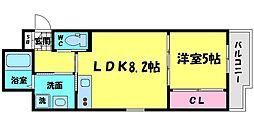 Dias 7階1LDKの間取り