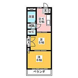 第2フラワーアイランド二本松[4階]の間取り