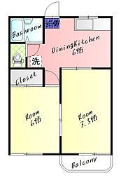 神田ハイツ[101号室]の間取り