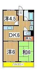 渋谷ビル[706号室]の間取り