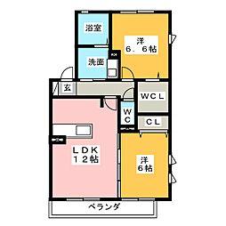 クォーレ[1階]の間取り