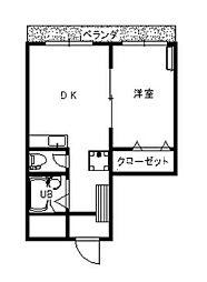 コートコア百合丘[6階]の間取り