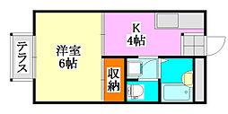 パストラルハウスC棟[1階]の間取り