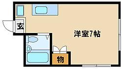 兵庫県明石市東仲ノ町の賃貸マンションの間取り