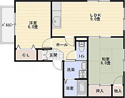 エトワールコート B棟[1階]の間取り