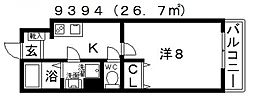 EXハイツ北新町[106号室号室]の間取り