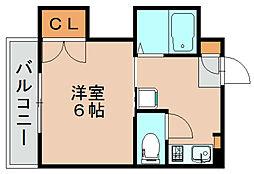 スリム箱崎[2階]の間取り