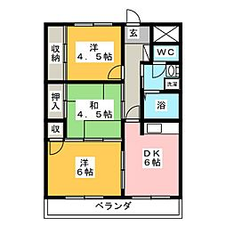 キャトルセゾンI[3階]の間取り