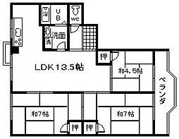 第三亀井マンション[508号室]の間取り