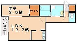 アルバ桜坂[1階]の間取り